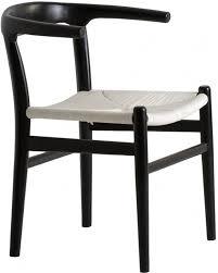 chaise coloniale chaise colonial bois massif noir et assise corde blanc louane