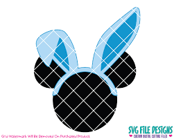easter mickey mouse mickey mouse easter bunny svg cut file set for disney easter shirts