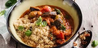 cuisine des aubergines quinoa aux aubergines facile et pas cher recette sur cuisine actuelle
