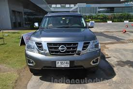 nissan patrol 2016 nissan patrol front from its preview in india indian autos blog