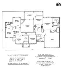 2 Bedroom 2 Bath House Plans by One Story 4 Bedroom House Plans
