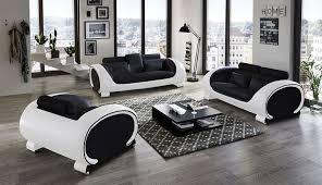 sofa garnitur 3 teilig sam design garnitur vigo 3 teilig in schwarz schwarz weiß