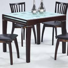 expandable dining table set decorating modern expandable dining table with frosted glass top