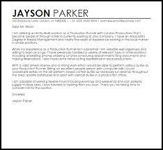 production runner cover letter sample livecareer