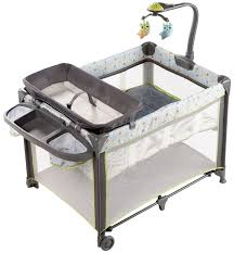 travel bed images Ingenuity marlo travel cot grey baby bunting jpg