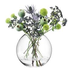 Lsa Vases Lsa International 16 Cm Globe Vase Clear Amazon Co Uk Kitchen