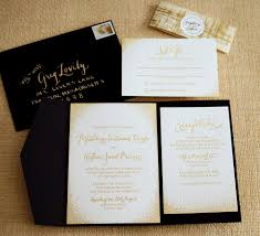 wedding pocket invitations black and rose gold wedding invitation google search wedding