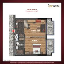 Studio Apartment Floor Plans Floor Plan Paramount Golf Foreste Villas And Studio Apartments