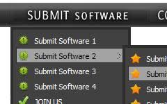 js menu template