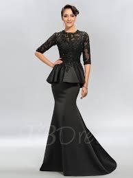 trumpet jewel appliques half sleeves evening dress tbdress com