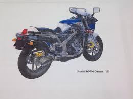 suzuki rg 500 parts list manual catalogue paper copy bound not