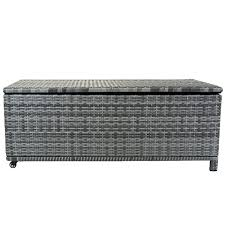 wicker patio storage charles bentley rattan wicker outdoor patio garden storage box