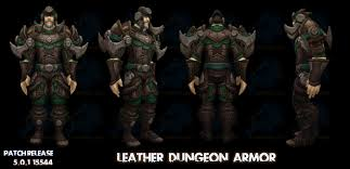 new mop dungeon leather armor set