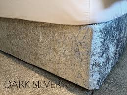 crushed velvet elasticated bed valance divan base cover 12 colours