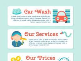 car wash template vector free vectors ui download