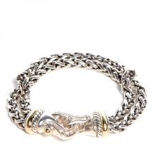 buckle bracelet gold images David yurman sterling silver 18k gold diamond double wheat buckle jpg