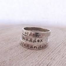 one mothers ring one personalized ring stackable ring ring rings