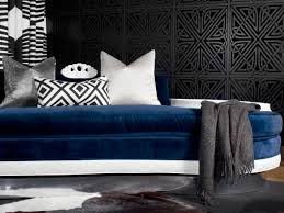 bedroom original brian patrick flynn navy black white settee