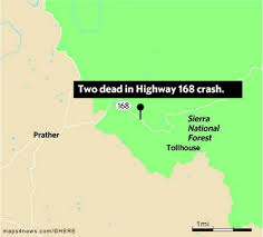 two dead in highway 168 crash between auberry and shaver lake