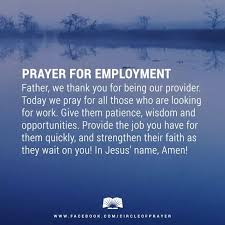 rev alex shaw offers a prayer for employment for all that need