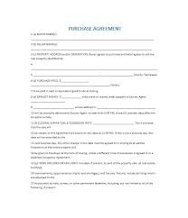 37 simple purchase agreement templates real estate business