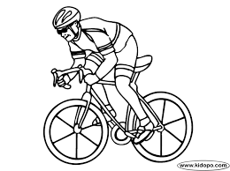 boy cycling coloring page