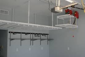 Garage Shelves Diy by Custom Diy Overhead Garage Storage Shelves With Lift For Small