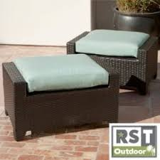 Patio Chair And Ottoman Set Resin Wicker Ottoman Foter