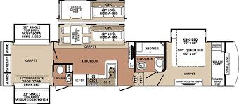 Montana Fifth Wheel Floor Plans Blue Ridge Fifth Wheel By Forest River 3710bh Bunk House