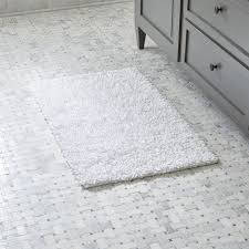 White Bathroom Rug Loop White Bath Rug In Bath Rugs Reviews Crate And Barrel