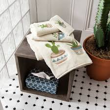 embroidered succulent towels simons rusticelegance bohemian