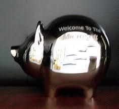 personalized silver piggy bank personalized baby shower gifts from images inc