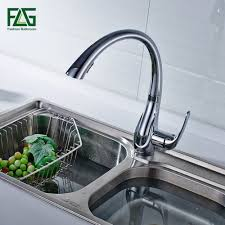 aliexpress com buy spring style white kitchen faucet pull out