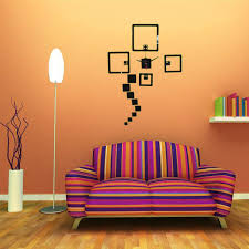 2 colors diy wall decal clock wall stickers watch acrylic dice