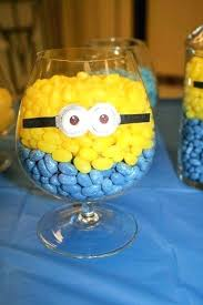 minion party favors minion party favors ideas candies in glasses for serving on a