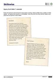 friendly letter writing paper agony aunt letter 1 example fact or opinion