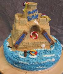 sandcastle birthday party photos cake decorating ideas project