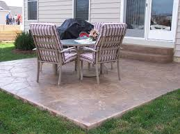 Painting Patio Pavers by Patio 61 Stamped Concrete Patio Ideas For In Ground Concrete