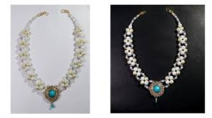 tutorial pearl necklace images Pearl necklace tutorial quick and easy fashion jewellery diy jpg