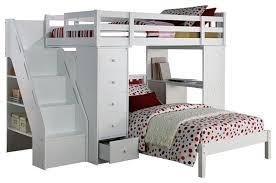 loft bed with desk loft beds and bunk beds acme furniture megan twin size loft bed desk