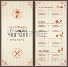 a classic restaurant menu template with nice icons in an elegant