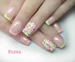 imagenes de uñas acrilicas fresh sping summer french polish nails art design diseños de uñas