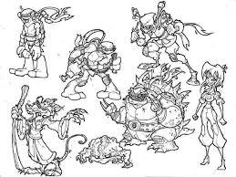 ninja turtles coloring pages free printable 392429