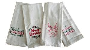 christmas towels christmas tea towel my vinyl direct
