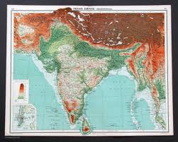 Asia And Middle East Map by Countries Middle East Central Asia Vintage Maps