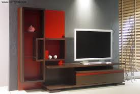 decor lcd tv wall cabinet and grey wall paint with decorative