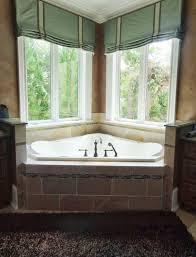 bathroom corner window treatment ideas best bathroom decoration