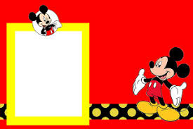 inspired mickey mouse free printable party invitations red