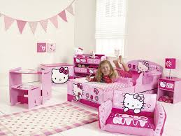 Hello Kitty Bedroom Ideas For Kids Hello Kitty Toddler Bed With Underbed Storage And Shelf Amazon Co
