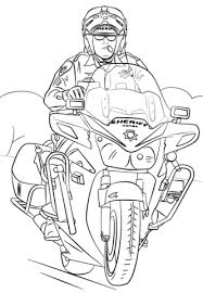 sheriff on motorcycle coloring page free printable coloring pages